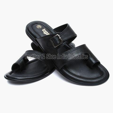 Synthetic Black Formal Slipper