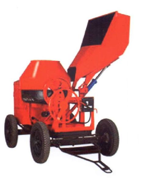 Concrete Mixer With Hydraulic Hopper