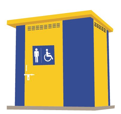 Differently Abled Modular Toilet