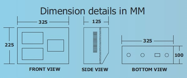 Dimension details in MM