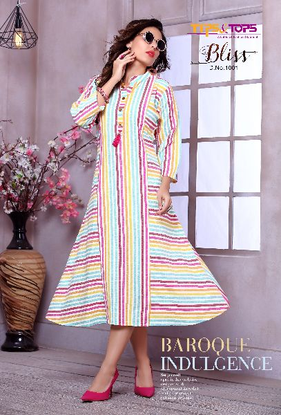 Ladies Striped Kurtis