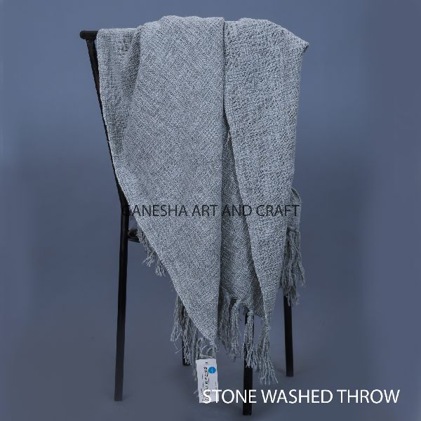 Stonewashed Throw Blankets