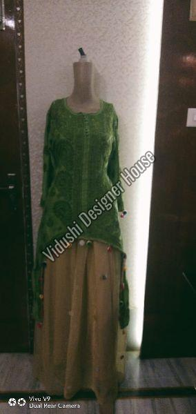 Cotton Kurti & Skirt Set