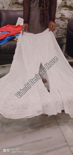 White Georgette Palazzo Pant