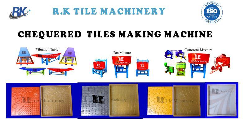 Chequered Tile Making Machine