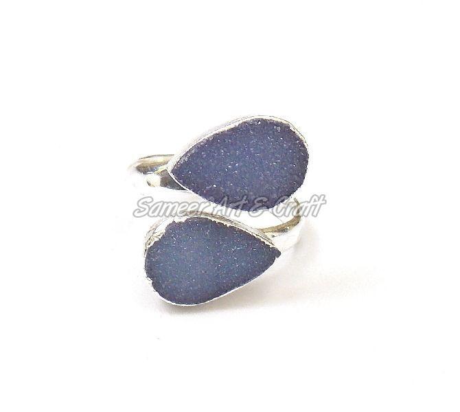 Natural Druzy Gemstone Ring