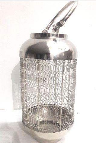 Nickel Candle Lantern