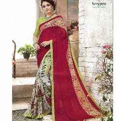 Half Georgette Saree