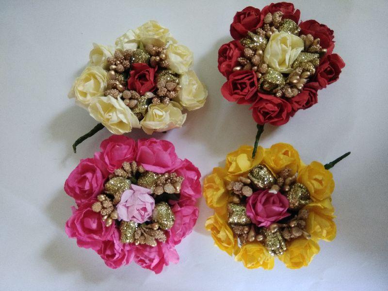 Designer Flower Hair Brooch