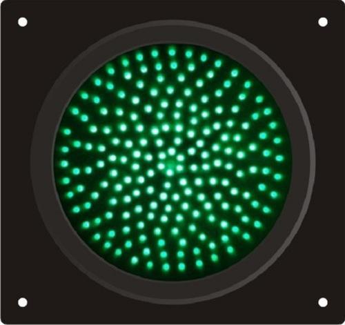 Green Solar Traffic Signal Lights