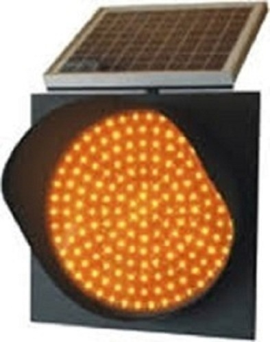 Yellow Solar Traffic Signal Lights