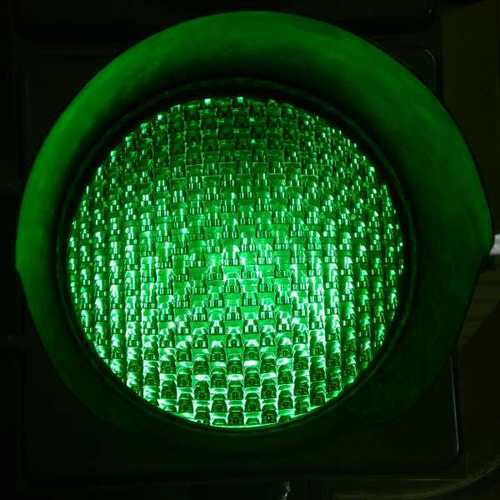 Green LED Traffic Signal Lights