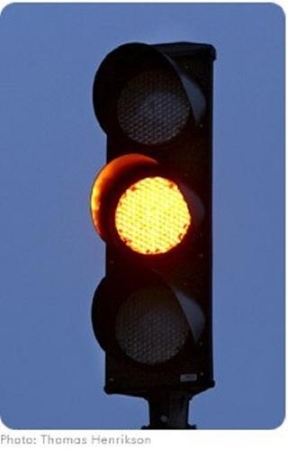 Yellow LED Traffic Signal Lights
