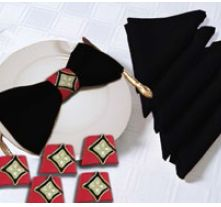 Cotton Napkins With Holders