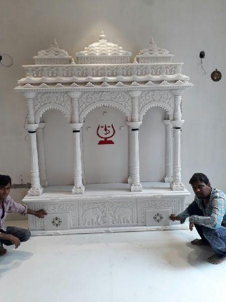 4.5 Feet White Marble Temple