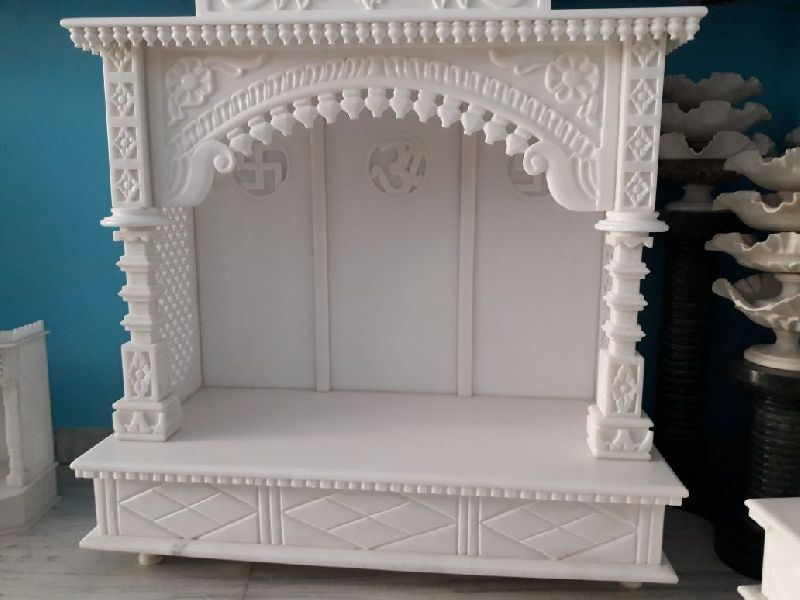 4 Feet White Marble Temple