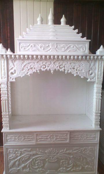6 Feet White Marble Temple