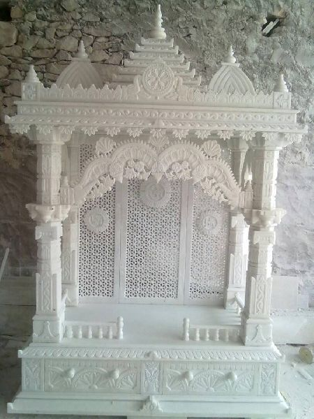 7 Feet White Marble Temple