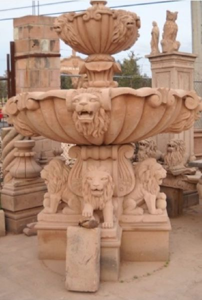 8 Feet Sandstone Fountain