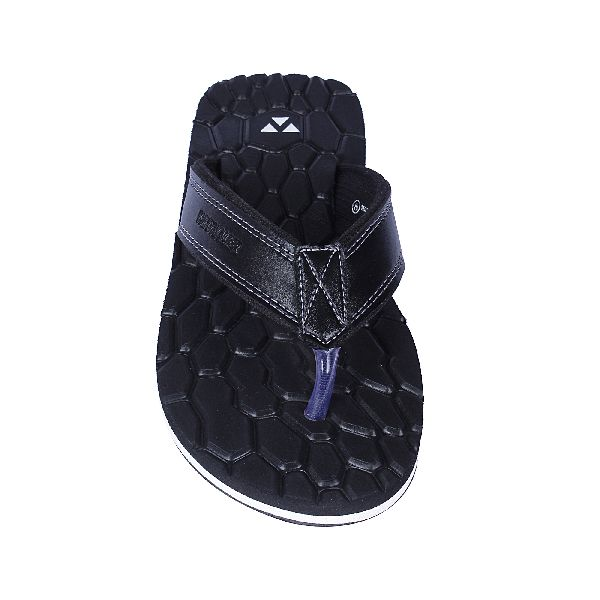 Black Cancun Mens Slippers