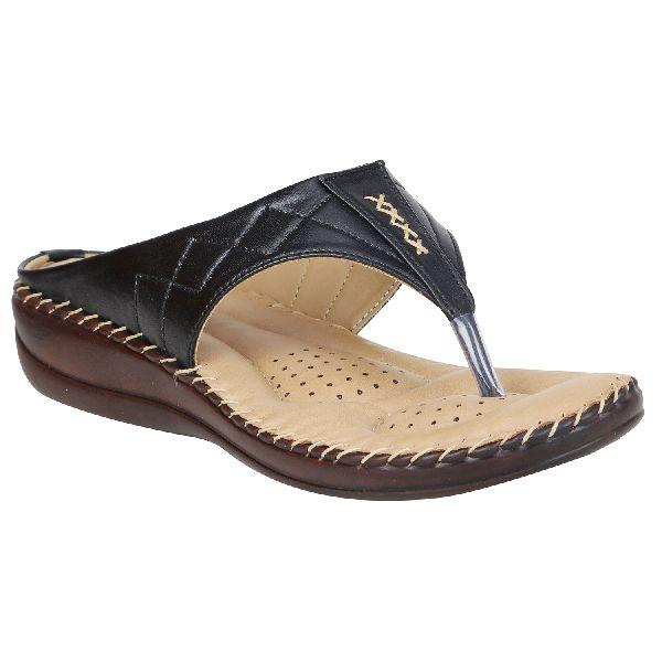 Black Sofie Ladies Fancy Slippers