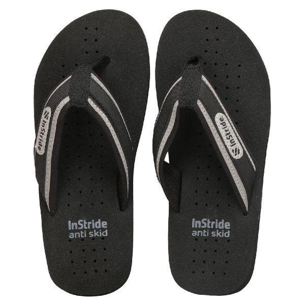 Black Tonga Mens Slippers
