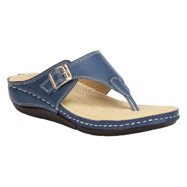 Blue Cozy Ladies Fancy Slippers