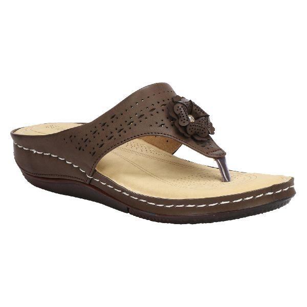 Brown Cozy Ladies Fancy Slippers