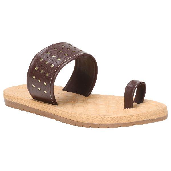 Brown Sierra Ladies Fancy Slippers