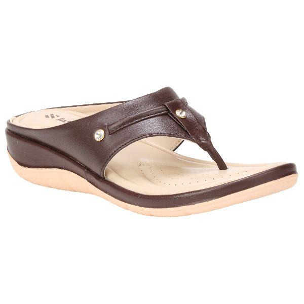Brown Teresa Ladies Fancy Slippers