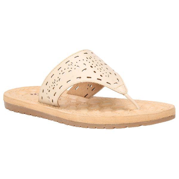 Cream Sierra Ladies Fancy Slippers
