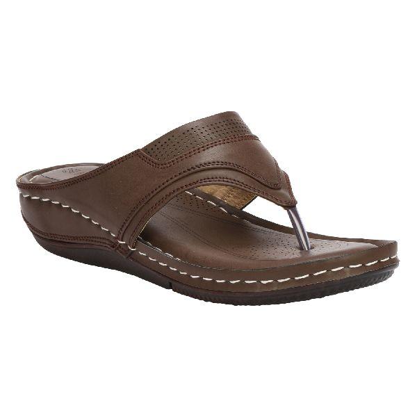 Dark Brown Cozy Ladies Fancy Slippers