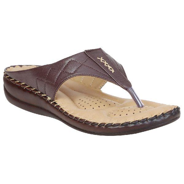 Dark Brown Sofie Ladies Fancy Slippers