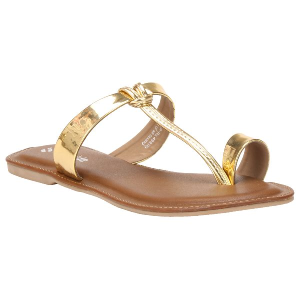 Gold Diana Ladies Fancy Slippers