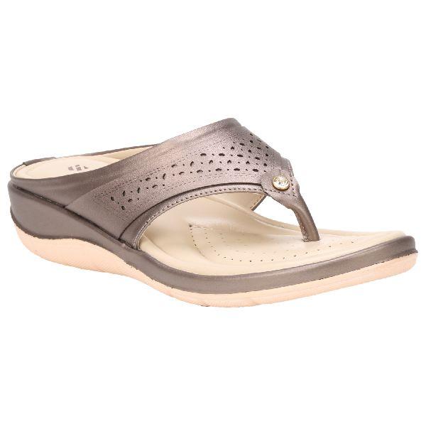 Gunmetal Teresa Ladies Fancy Slippers