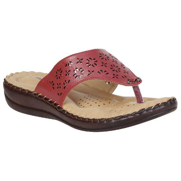 Maroon Sofie Ladies Fancy Slippers