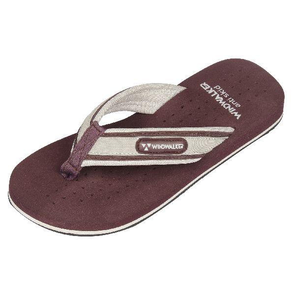 Maroon Tonga Mens Slippers