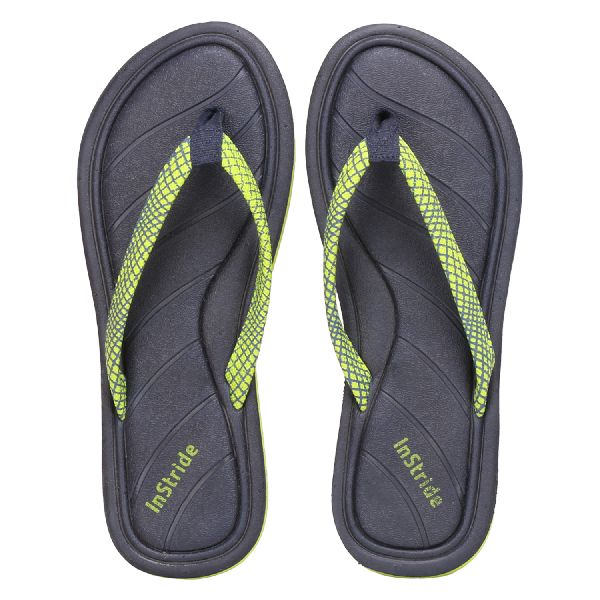 Navy Coral Ladies Slippers