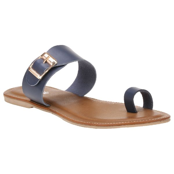 Navy Diana Ladies Fancy Slippers