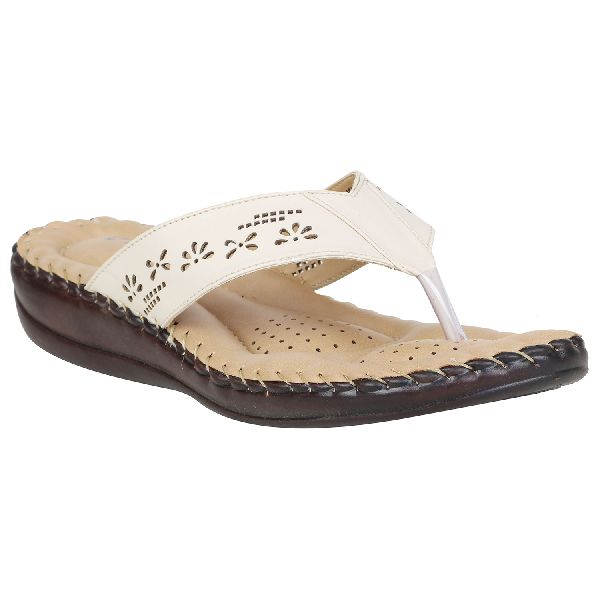 Off White Sofie Ladies Fancy Slippers