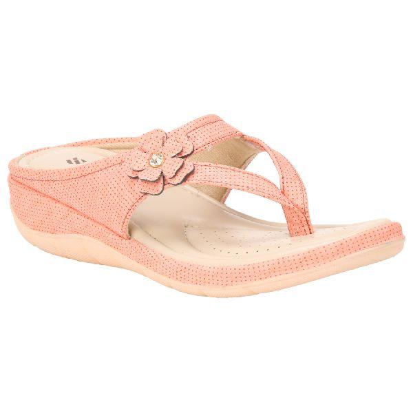 Peach Teresa Ladies Fancy Slippers