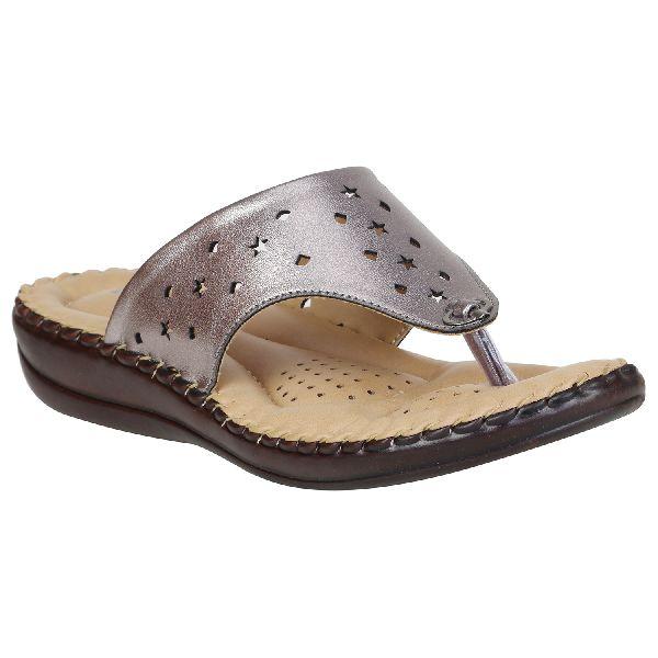 Silver Metalic Sofie Ladies Fancy Slippers