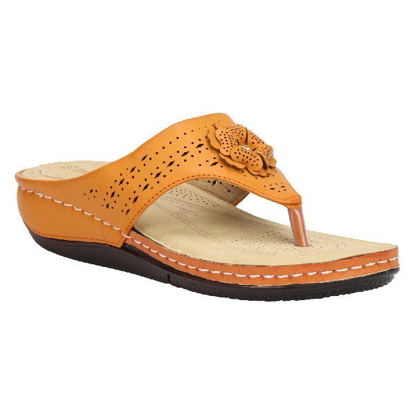 Tan Cozy Ladies Fancy Slippers