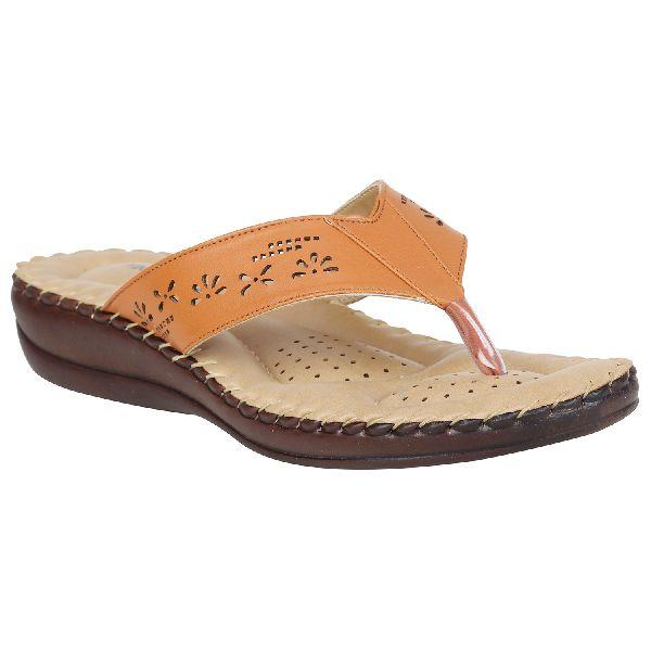 Tan Sofie Ladies Fancy Slippers