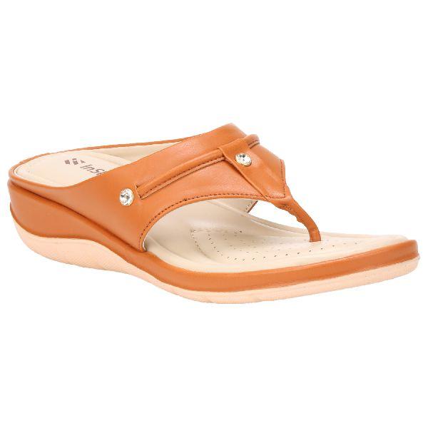 Tan Teresa Ladies Fancy Slippers