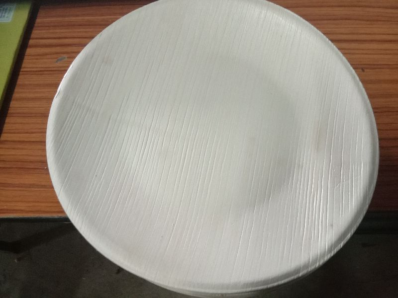 8 Inch Areca Leaf Round Plate