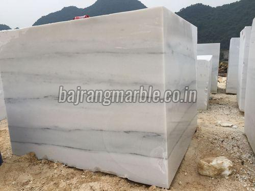 Greenish White Marble Blocks