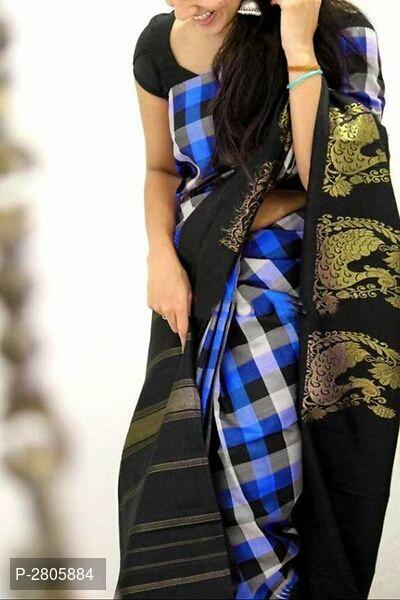 Fancy Printed Khadi Saree