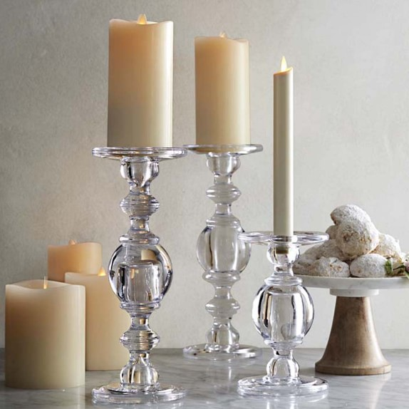 Skinny White Candles