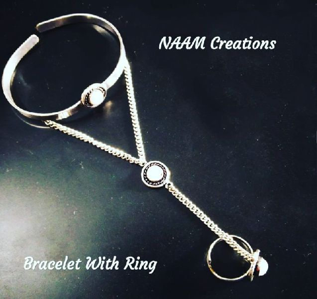 Designer Bracelet with Ring